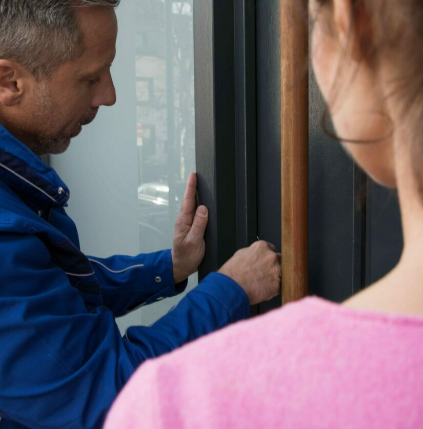Türöffnung mit Kunden